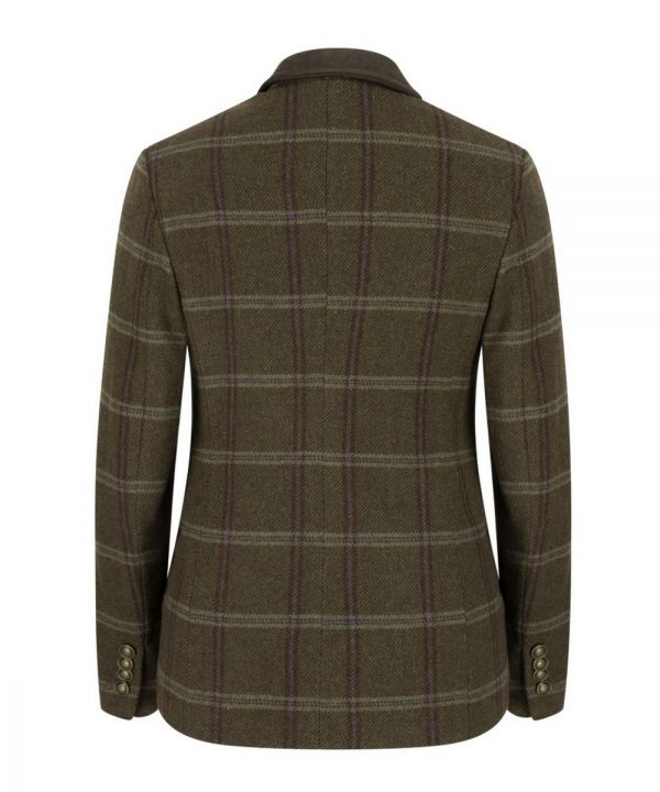 The Rantin Robin Musselburgh Ladies Tweed Hacking Jacket Back View