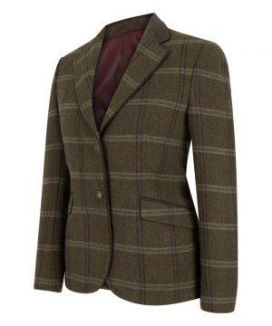 The Rantin Robin Musselburgh Ladies Tweed Hacking Jacket Front View