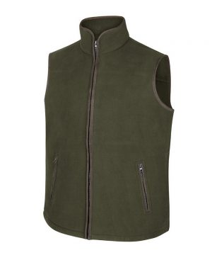 The Rantin Robin Woodhall Fleece Gilet Green Colour
